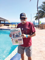 Caribbean breezes and fun at the Royal Decameron Club were highlights of Mike Miles and Barb Eberly's recent vacation.