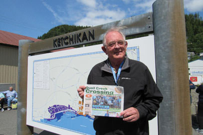 Sue and John Anderson enjoyed catching up in Ketchikan with other Quail Creek residents in June.