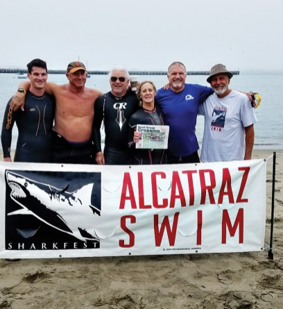 Cheryl Palen and Brant Vickers narrowly escaped their recent Alcatraz swim! Thankfully, they remembered to take their Crossing just in case!