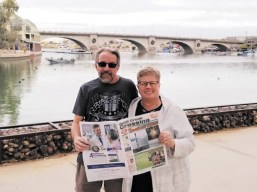 Randy and Mary Vols visit the London Bridge in Lake Havasu City, AZ.