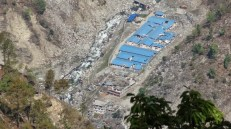 Trishuli-1 Hydropower Project in Haku VDC, Ward No. 9. According to our local source, 87 workers from Rolpa, Rukum and Dang districts and 76 locals were killed when a quake-triggered mudslide occurred not far from this site. At least six are still missing.