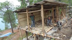 Locals in Suspa VDC trying to rebuild their homes