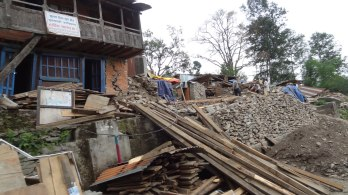 Sunkhani VDC, epicentre of May 12 earthquake