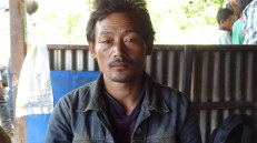 Gore Ghale of Yarsa 6 rushed back to his village from Malaysia after he heard about the earthquake. His wife was killed in the forest by a quake-triggered landslide. He has 4 children, is heavily in debt and seems extremely worried about his family's future.