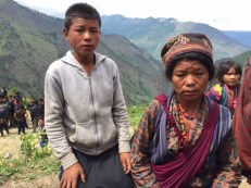Pasang Butti & her son (from Gre village, Gatlang VDC). Her husband, a muleteer, was killed in Langtang by a quake-triggered landslide. Her son has stopped going to school since. She asked me, at least four times, to find someone who can take her 3-year-old daughter to Kathmandu & give her a good education. We gave her NPR 7000 as immediate cash relief (through Nehi Fund). We have been trying to find a sponsor for her daughter -- and looks like we may have found one.
