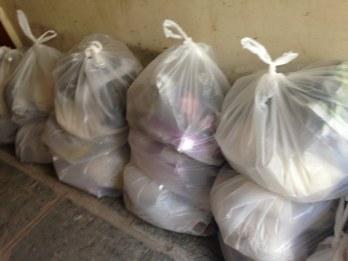 Bags of supplies from Nari Shakti Cooperative