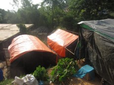 Dalit families in Gairi Gaun are living in these tarpaulin shelters