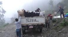 Unloading relief supplies