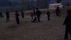 Children playing at Satbise camp
