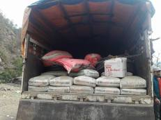 Loading cement