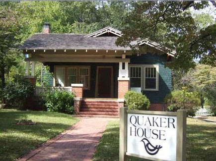 House in Fayetteville that is location of Quaker House of Fayetteville