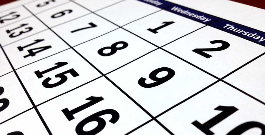 Planning Calendar for First Day School 2020/2021