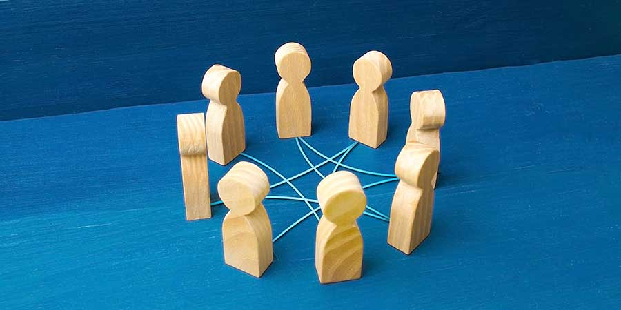 Conversation Circle Wooden Figures