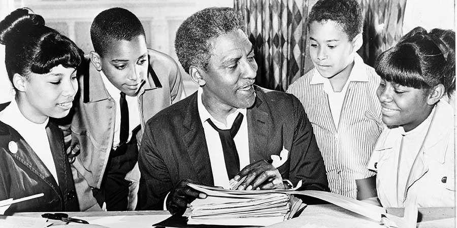 Bayard Rustin with Kids feature
