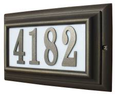 Large Edge Wood Address Plaque