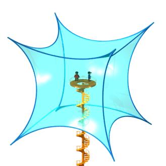 Inside a hyperbolic cube