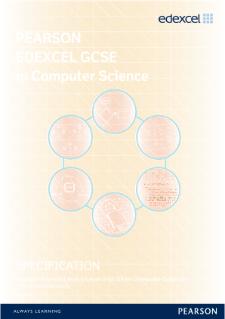 Edexcel GCSE Computer Science 2013 specification