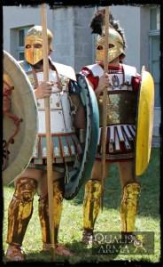 Reconstitution grecque, hoplites en formation