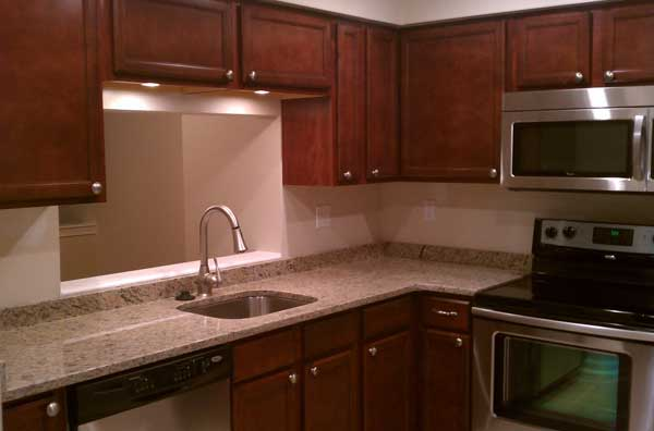 Kitchen remodeled by Qualis Construction