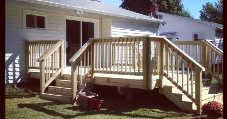 New deck with 3-way stairs, Bowie MD