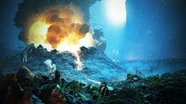 Gunung berapi bawah air.