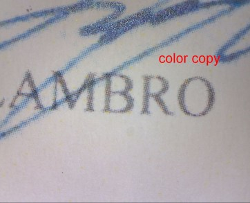 mortgage fraud Color copy document