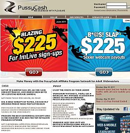 PussyCash Adult Affiliate Program