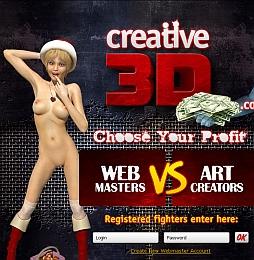 Creative 3D Cash Adult Affiliate Program