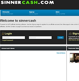 sinnercash Adult Affiliate Program