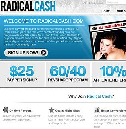 Radical Cash Adult Affiliate Program
