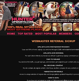 Hunter Upskirts Adult Affiliate Program