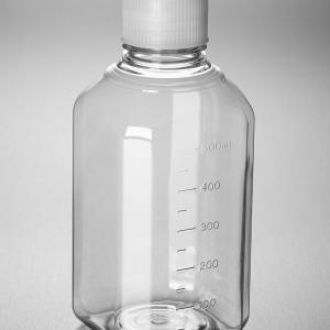 Corning PET Media Bottle, 500 mL, Graduated, Sterile