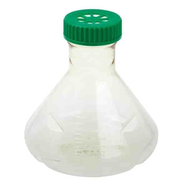 Fernbach Flask, 2L, Vent Cap, Baffled Bottom, Sterile