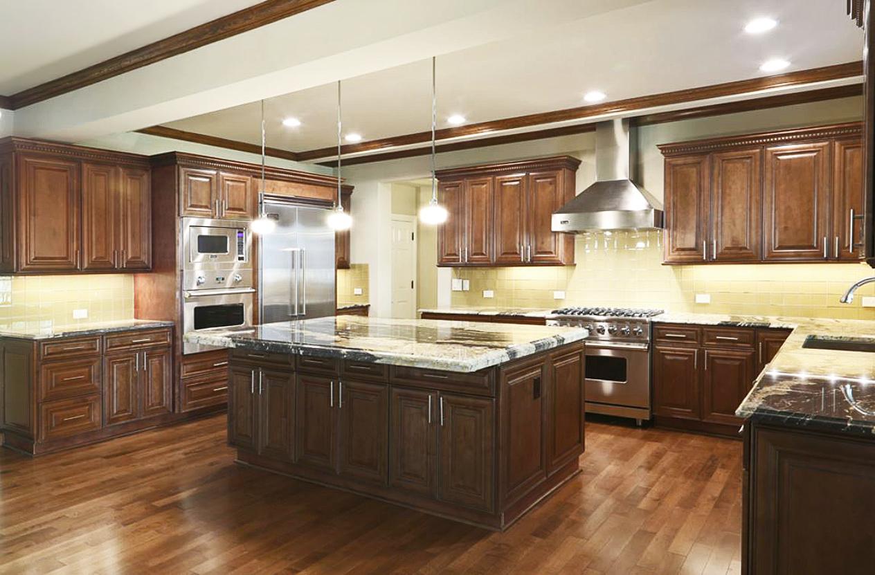 Quality Cabinets NJ - Chocolate Maple Glaze on Dark Maple Cabinets  id=76605