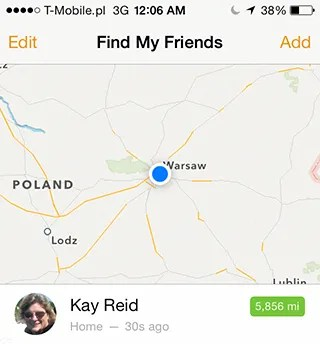 Find My Friends: 5,856 miles