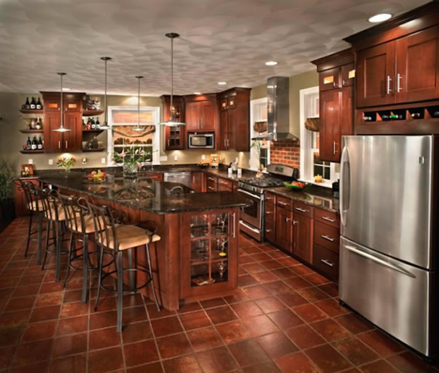 Kitchen with Seville Cabinetry