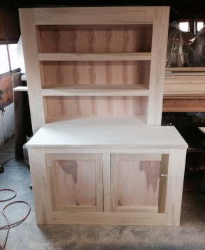 Quality kitchen cabinets under construction