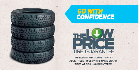 LOW PRICE TIRE GUARANTEE.†