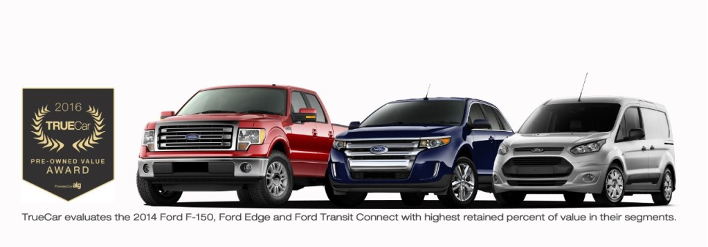Ford F-150, Edge and Transit Connect Honored with TrueCar Awards