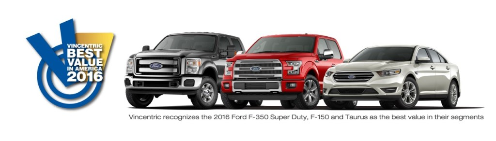 Ford F-150, F-350 Super Duty and Taurus WIN BIG From Vincentric