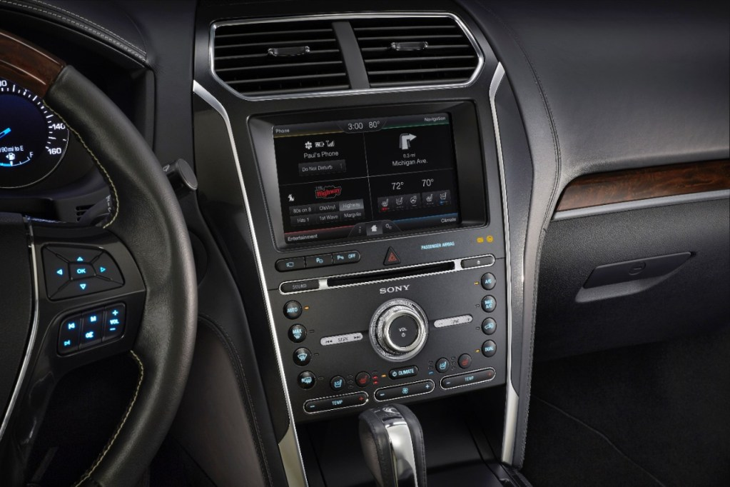 FORD AND SONY BRING PREMIUM HOME AUDIO TECHNOLOGY TO 2016 FORD EXPLORER PLATINUM – AN INDUSTRY-FIRST INNOVATION