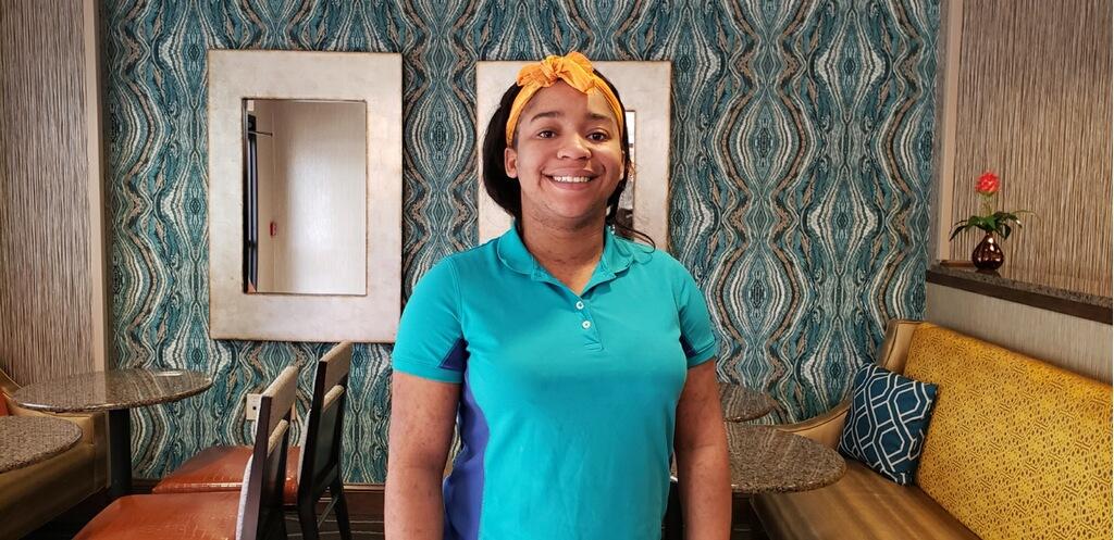 Employee of the year 2018 Hampton Inn Winston-Salem Fatty Davis