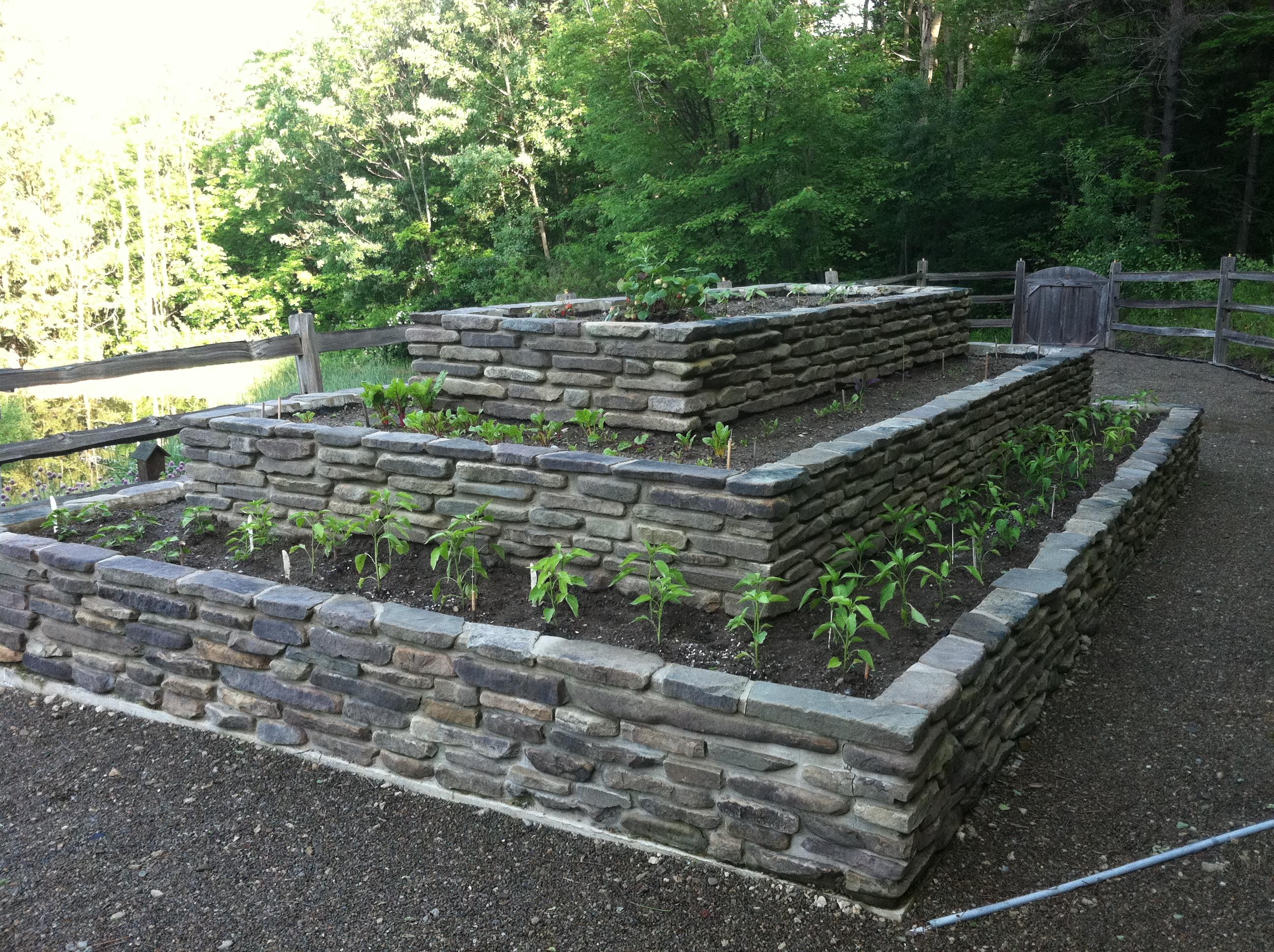 Raised Stone Garden Beds Buffalo NY