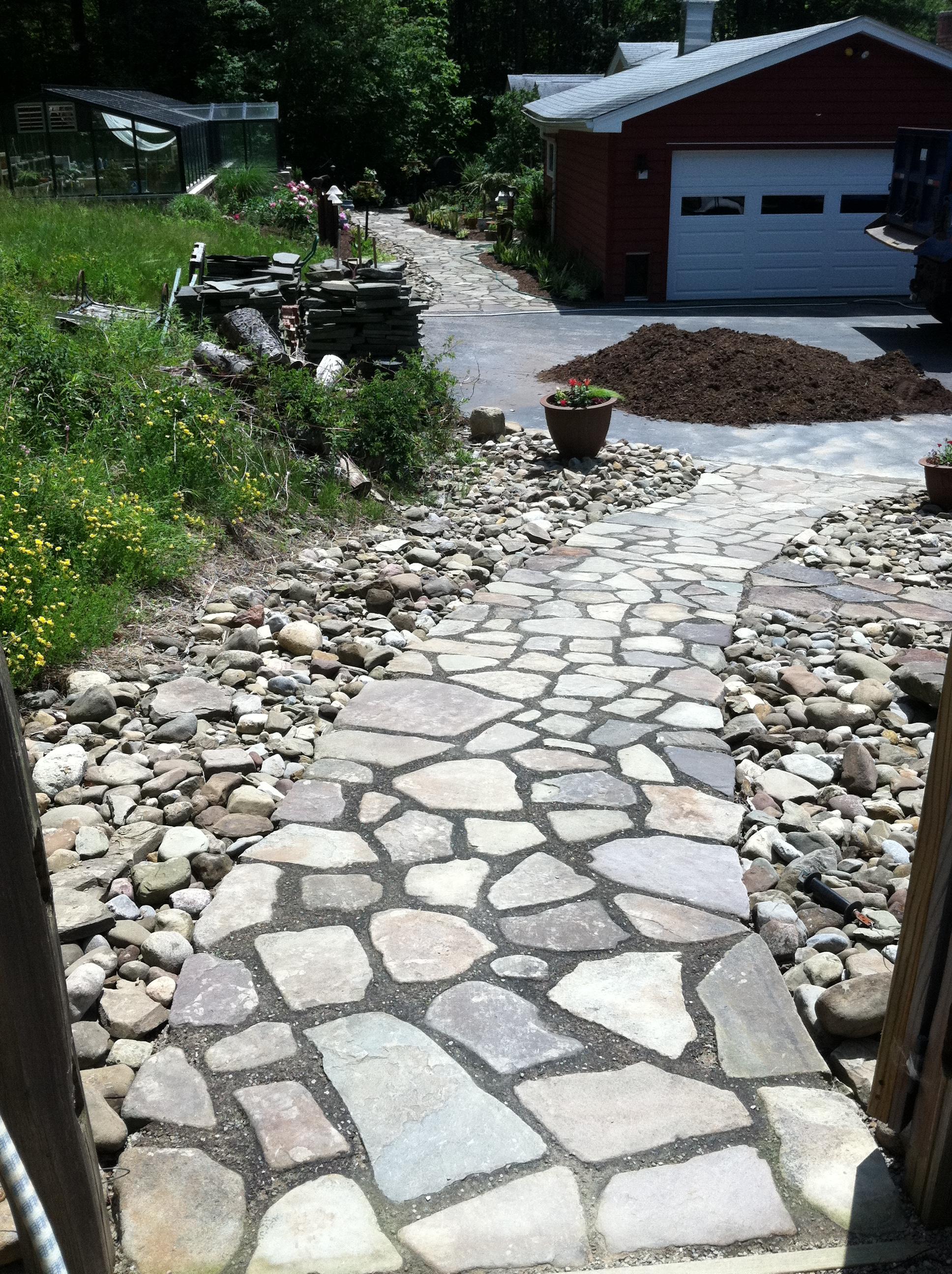 Custom Stone Sidewalk Buffalo NY