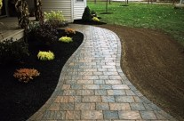 Custom Brick Paved Sidewalks