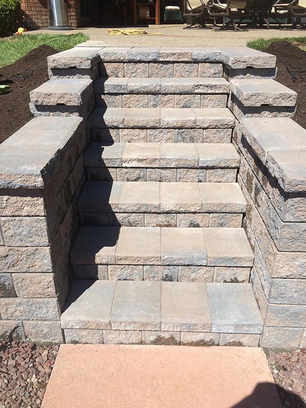 Retaining Wall Stairs WNY
