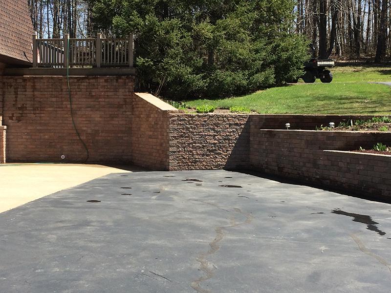 Custom Driveway Retaining Wall Erie County