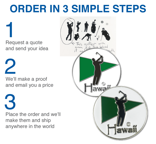 a5a2720ec28 Custom Golf Ball Markers - Divot Tools - Hat Clips - Design Your Own