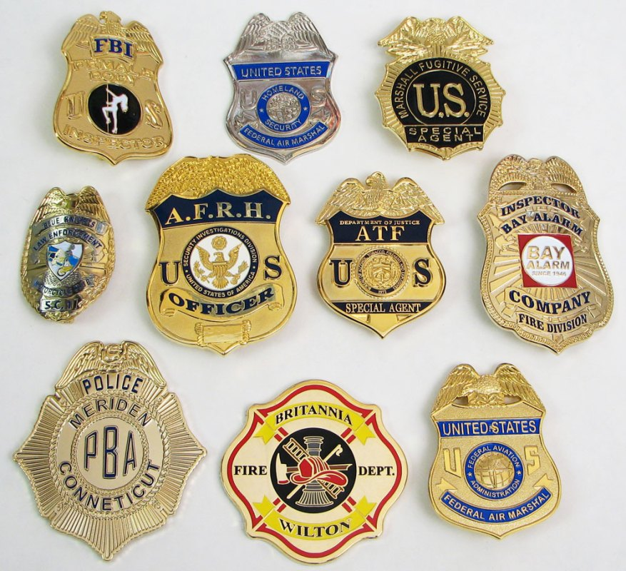 Law Enforcement and Fire Fighter Badges Custom Made for Your District