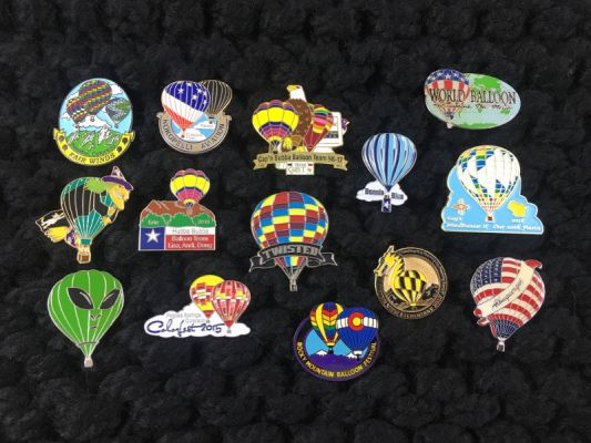 Hot Air Balloon Pin Examples
